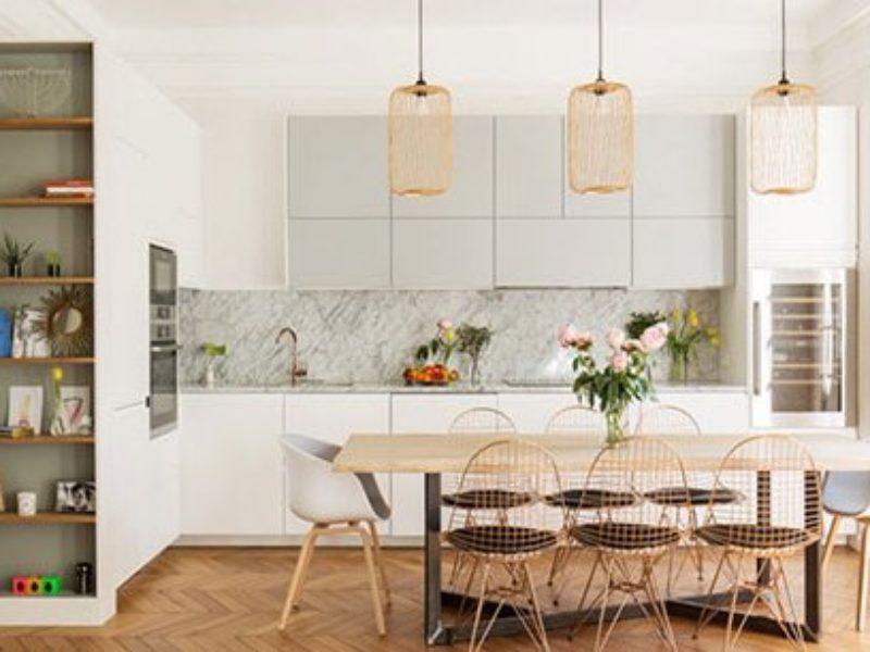 Кухня МДФ эмаль в скандинавском стиле